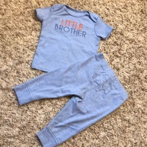 Carters 2 pc little brother outfit